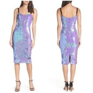Dress the Population Lynda Iridescent Sequin Dress